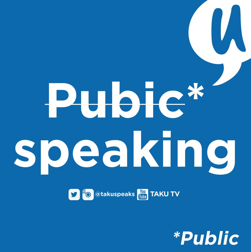 Two Words with Taku Public Speaking
