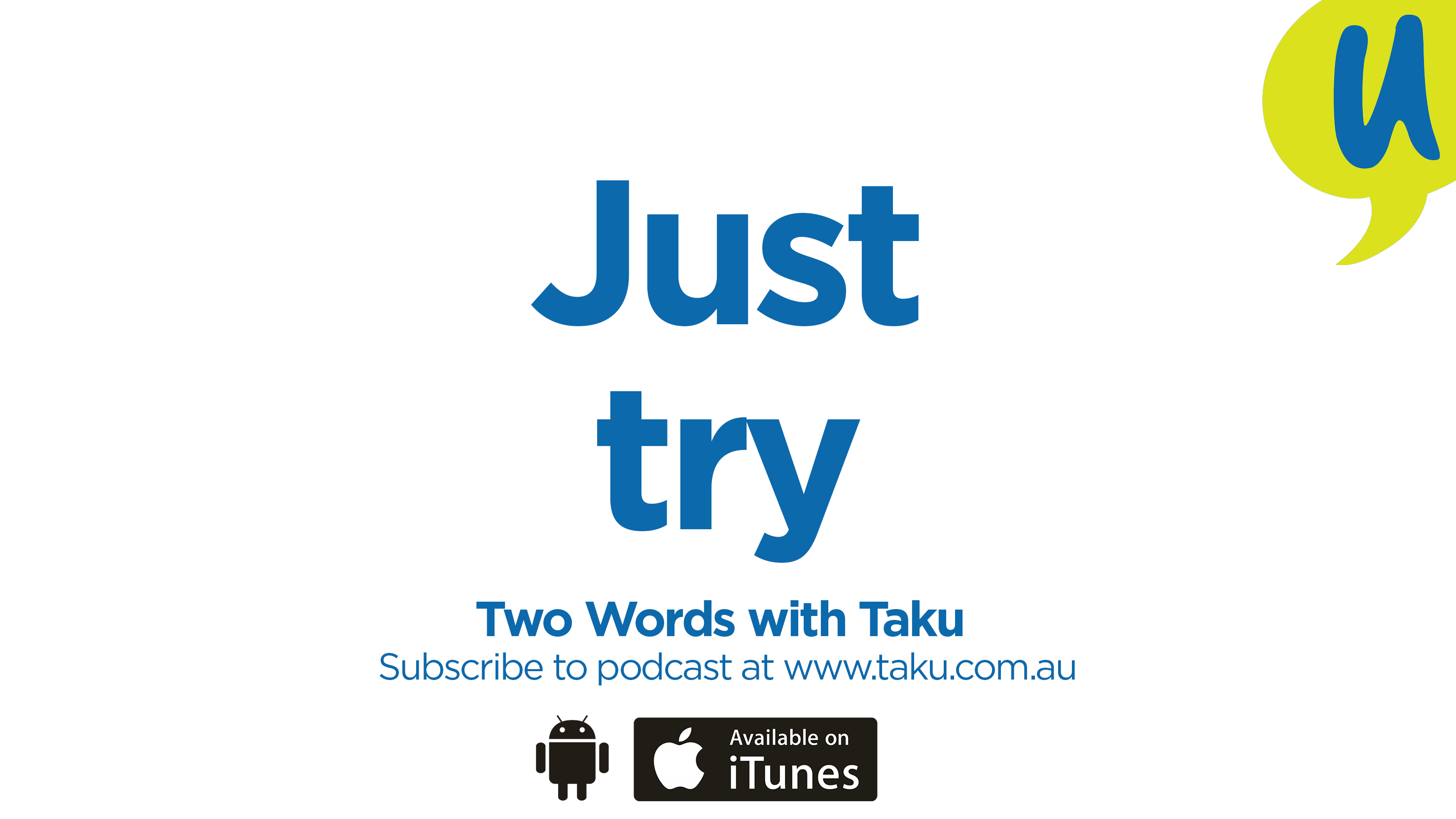 Just trying Taku Mbudzi Writing Podcast Australia