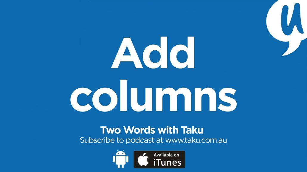 Write Resume CV Taku Podcast Columns