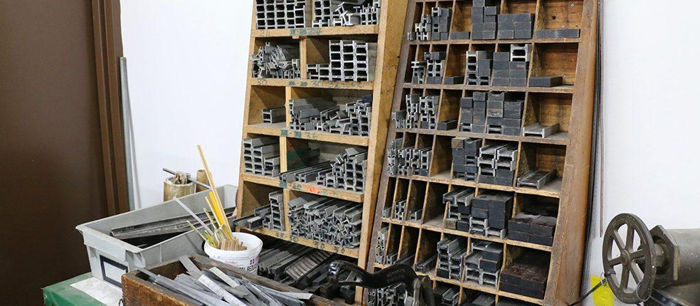 Old school typesetting gear Minuteman Press Printer Abbotsford Taku Podcast