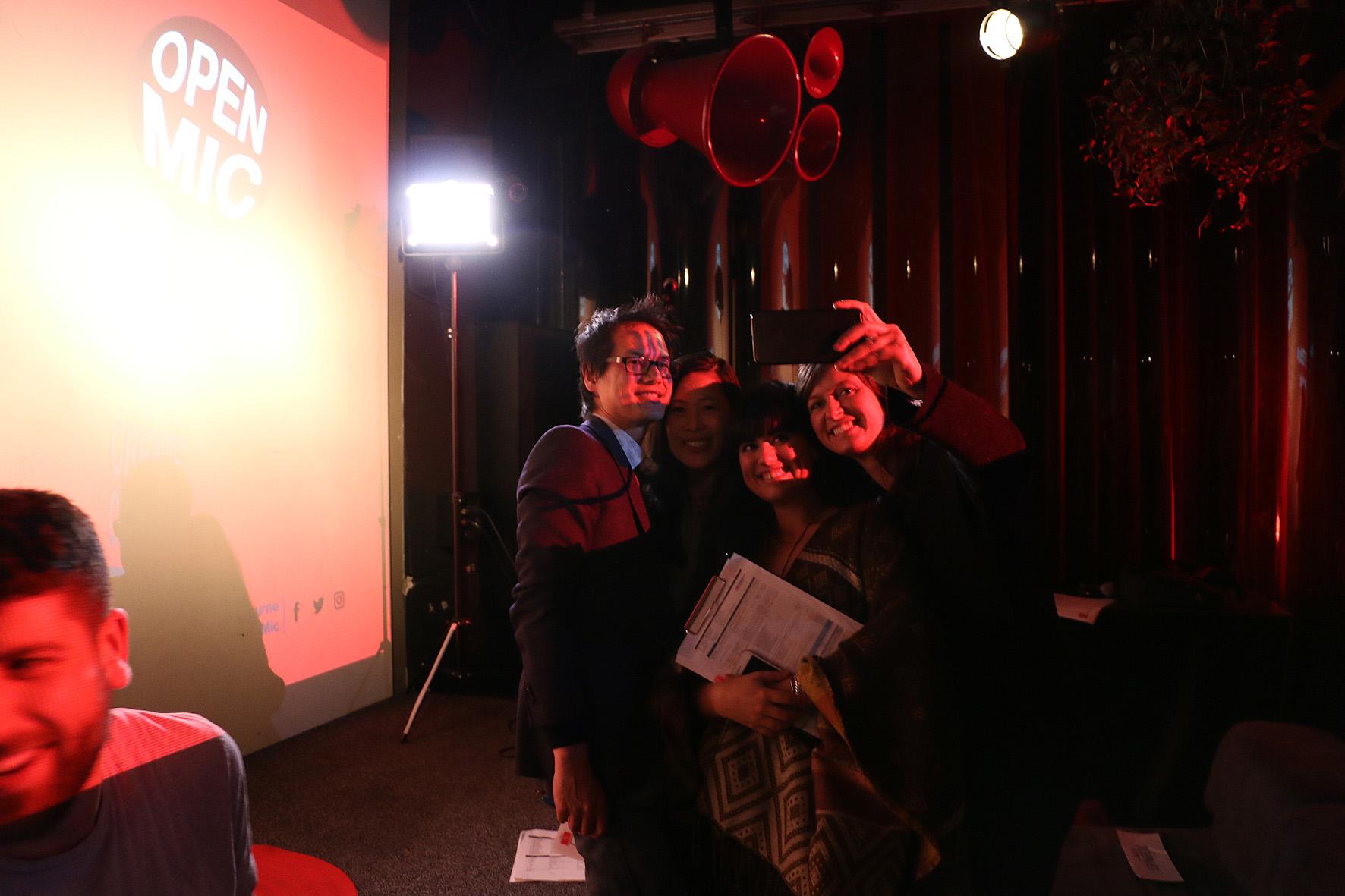 TEDxMelbourne Team Selfie Open Mic Night