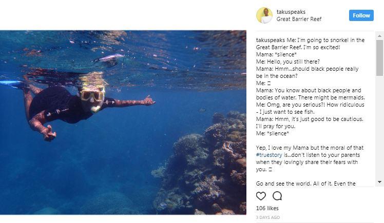 Taku Mbudzi Instagram Snorkelling and Silence