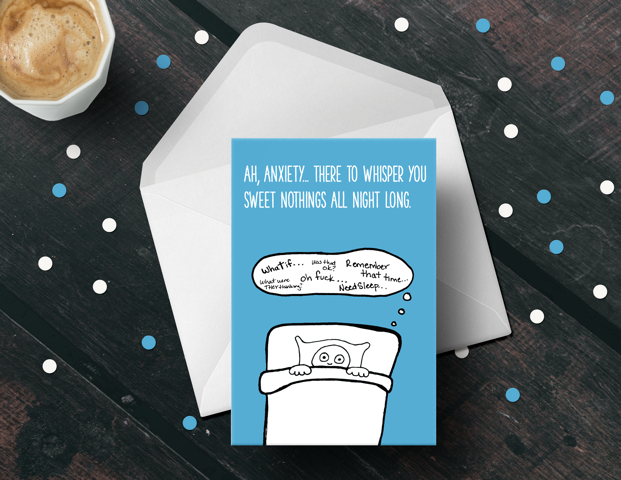 Anxiety Greeting Cards Hard Copy Cartel