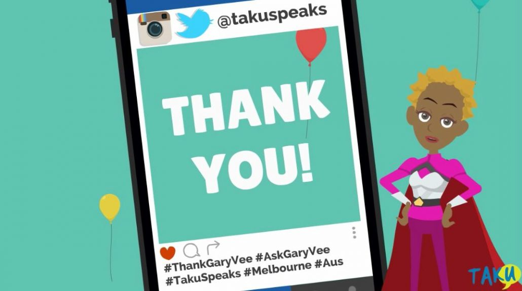 Thank You Gary Vee Melbourne Podcast Taku Mbudzi