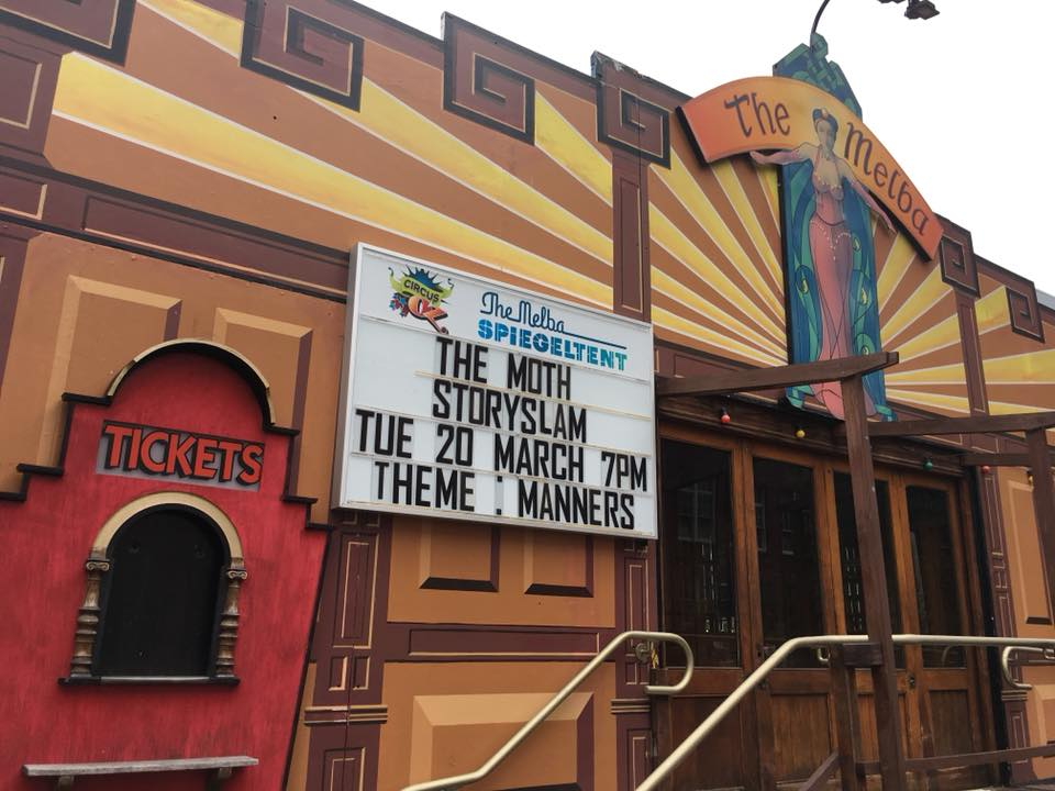 StorySlamThe Moth Manners Melbourne Spiegeltent