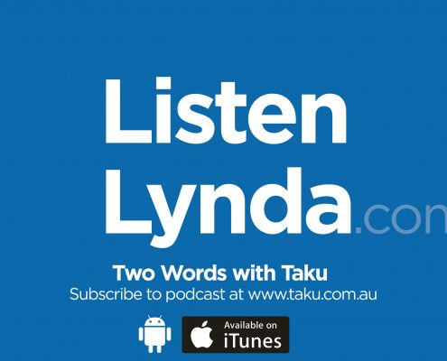 Listen Lynda Two Words Taku Podcast