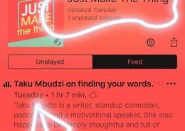 Creativity Fear Writing Interview Taku Mbudzi Claire Tonti