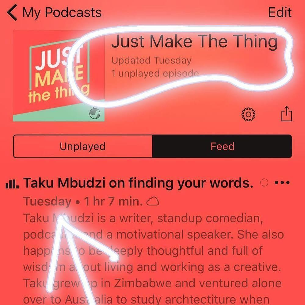 Creativity Fear Writing Interview Taku Mbudzi Claire Tonti